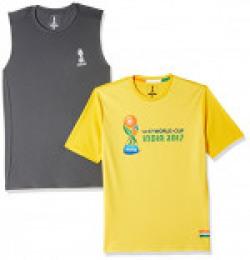 (Pack of 2) FIFA Men's Printed Slim Fit T-Shirts