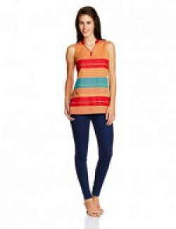MOTHER EARTH Women's Body Blouse Shirt (EWT-GASL-648_Orange_XX-L)