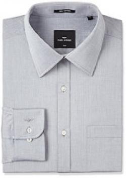 Park Avenue Men's Formal Shirt (8903959042621_PMSX06127-K6_40_Black)