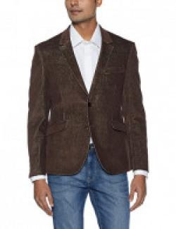 University of Oxford by People Men's Slim Fit Blazer (8907496476277_PMOXW1021707BLA_XXL_Brown)