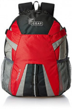 F Gear Britain 21 Ltrs Red Casual Backpack (2606)