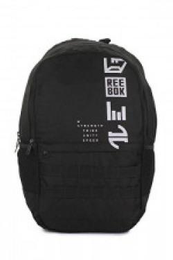 Reebok Synthetic 52 cms Black Children'S Backpack (CG0443)