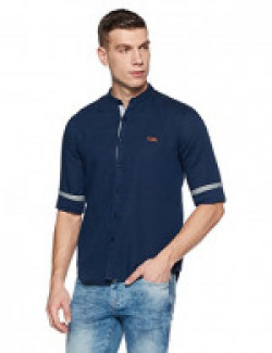 Symbol Amazon Brand Men's Casual Regular Fit Shirt (AW17MCS60_Medium_Navy)