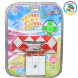 Smiles Creation Magic Rubik's Cube Toy for Kids (Set of 3)