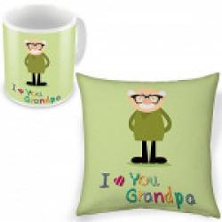 Buy I love You Grandpa Printed Cushion n Get Mug Free