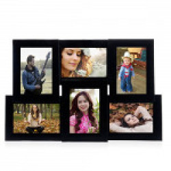 Wens 6-Picture MDF Photo Frame (20 inch x 13 inch, Black)