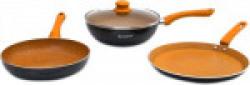 Wonderchef Sakura Induction Bottom Cookware Set(Aluminium, 3 - Piece)