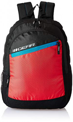 Gear 18 Ltrs Black Casual Backpack (BKPVLCTY20146)