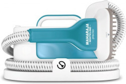 Maharaja Whiteline PRECISO (GS-100) Garment Steamer(White & Light Blue)