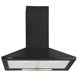 Hindware 60cm 700 m3/hr Chimney (Clarissa Black 60, 2 Cassette Filters, Black)