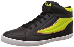 Fila Men's Streetmate III Black and Neon Green Sneakers - 8 UK/India (42 EU)