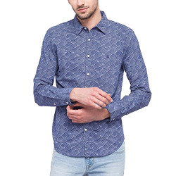 United Colors of Benetton Men's Printed Slim Fit Casual Shirt (203764788_Assorted_L)