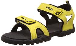 Fila Men's Teofila Yellow and Black Sandals and Floaters -7 UK/India (41 EU)