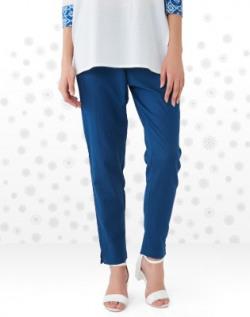 Anmi Regular Fit Women's Dark Blue Trousers