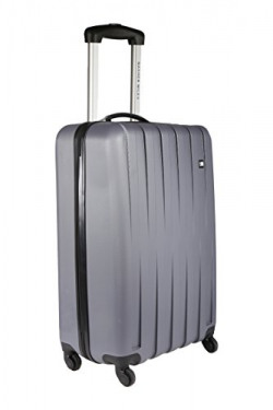 Nasher Miles Zurich Polycarbonate 22 cms Grey Hardsided Cabin Luggage (NM H142 Grey 51CM)