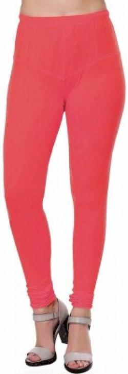 Ziva Fashion Churidar  Legging(Pink, Solid)