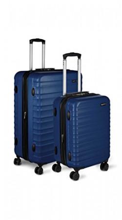 AmazonBasics Set of 2 (51 cm + 71 cm) Navy Blue Hardsided Trolley