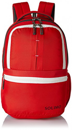 Amazon Brand - Solimo 25 Ltrs Red Casual Backpack