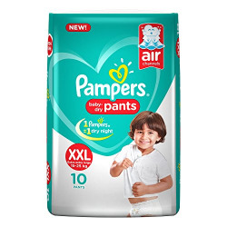 Pampers New XX-Large Size Diapers Pants, 10 Count