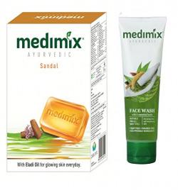 Medimix Ayurvedic Sandal (625 Gram) 4+1 Pack + Medimix face wash 50ml