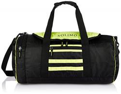 Amazon Brand - Solimo Gym Bag (29 litres, Coal Black & Sea Green)