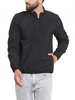 Scott International Men's Polyester All Weather Jacket (Black, Large)