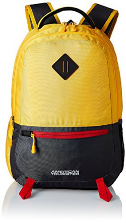 American Tourister Zap 2016 Polyester 24 Ltrs Yellow Laptop Bag (AMT ZAP 2016 BACKPACK 04-YELLO)