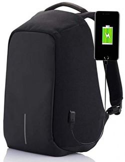 Techhark Multi Functional Anti Theft Laptop Bag Laptop Backpack (Black) (black)