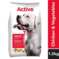 Active Adult Dry Dog Food, Chicken and Vegetable - 1.2 kg Pack