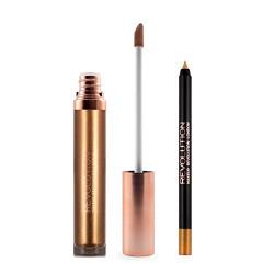 Makeup Revolution Retro Luxe Metallic Lip Kit, Empress, 5.5ml