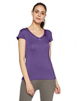 Amante Nightshirt Top (SLT10101_Purple Plumeria_Medium)