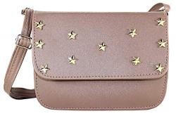 Fargo Focus PU Leather Women's And Girl's Sling Bag (FGO-123) (Grey)