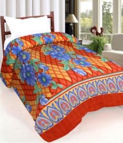 IWS Printed Single Fleece Blanket(Polyester, Multicolor) @99