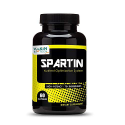 Vokin Biotech Spartin Testosterone Booster Supplements with Tribulus Terrestris Extract, Safed Musli -60 Capsules