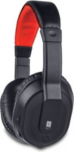 Iball MusiTap-Black Bluetooth Headset with Mic(Black, Over the Ear)