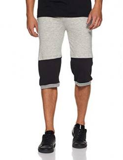 Demokrazy Men's Relaxed Fit Casual Trousers (CAP008_XL_Grey and Black_X-Large)