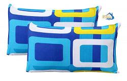 Home Elite Designer 2 Piece Pillow Cover Set - 18 x27 , Multicolour