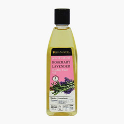 Soulflower Pure And Natural Rosemary Lavender Healthy Hair Oil For Unisex, 120ml