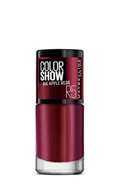 Maybelline New York Color Show Big Apple Nail Paint, Hot Pepper, 6ml