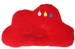 Amardeep Brown Horse Baby Pillow, Red