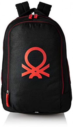 United Colors of Benetton 30 Ltrs Red Casual Backpack (0IP6ECOBPBR2I)
