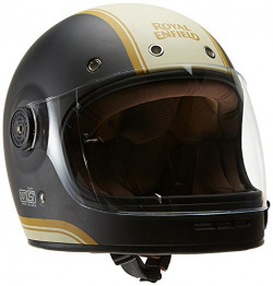 Royal Enfield HEAW17032 Classic Stripes Drifter Helmet (Grey and White, XL)
