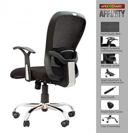 APEX Chairs Affinity Chrome Base Medium Back Office Chair