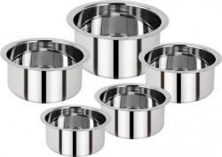 Renberg Steel without Lid Tope Set(Stainless Steel)