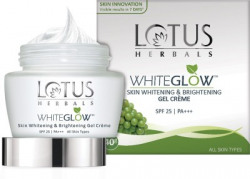 LOTUS HERBALS WhiteGlow Skin Whitening & Brightening Gel Creme SPF-25 I PA+++(40 g)