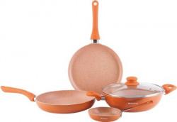 Wonderchef Valencia Induction Bottom Cookware Set(Aluminium, 4 - Piece)