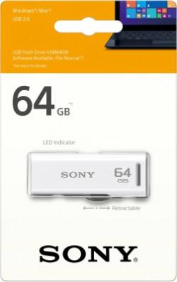 Sony USM64GR/W3//USM64GR/W2 64 GB Pen Drive(White)