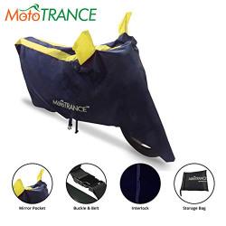 Mototrance Sporty Arc Blue Yellow Bike Body Cover for Honda Activa 5G