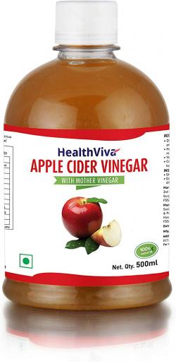 HealthViva Apple Cider Vinegar with Mother, 500 ml 62% off