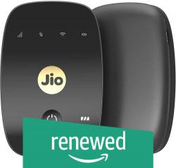 (Renewed) JioFi 4G Hotspot M2S 150 Mbps Jio 4G Portable Wi-Fi Data Device (Black)